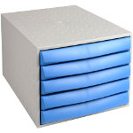 Exacompta Filing drawers 5 Draw Closed Blue