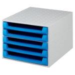 Exacompta Filing drawers 5 Draw Open Blue