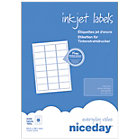 Niceday Inkjet Labels 38 x 63mm 21 Labels Per Sheet 100 Sheets Per Box