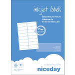 Niceday Inkjet Labels 34 x 99mm 16 Labels Per Sheet 100 Sheets Per Box