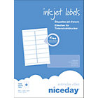 Niceday Inkjet Labels 38 x 99mm 14 Labels Per Sheet 100 Sheets Per Box