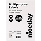 Niceday Laser Labels White 3600 Labels per pack Box 100