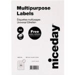 Niceday Laser Labels 64 x 339mm 24 Labels Per Sheet 100 Sheets Per Box