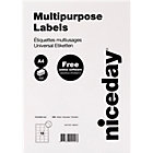 Niceday Laser Labels 635 x 466mm 18 Labels Per Sheet 100 Sheets Per Box