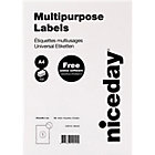 Niceday Laser Labels White 100 Labels per pack Box 100