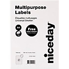 Niceday Multifunctional Labels 980462 White 2100 Labels per pack Box 100