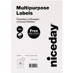 Niceday Multifunctional Labels 105 x 37mm 16 Labels Per Sheet 100 Sheets Per Box