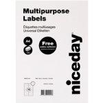 Niceday Multipurpose Labels 980464 White 1600 Labels per pack Box 100