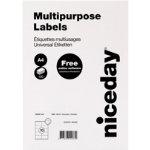 Niceday Multipurpose Labels 980468 White 1000 Labels per pack Box 100