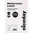 Niceday Multifunctional Labels 105 x 57mm 10 Labels Per Sheet 100 Sheets Per Box