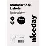 Niceday Multipurpose Labels Right Corners White 800 labels per pack