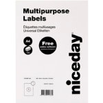 Niceday Multipurpose Labels 980472 White 100 labels per pack