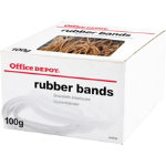 Office Depot Brown Rubber Bands Assorted Sizes 100g