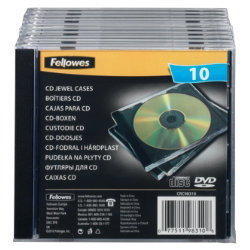 Fellowes Single Capacity CD Jewel Cases 10Pk