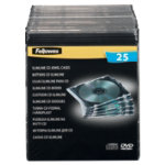 Fellowes Single Capacity Slimline CD Jewel Cases 25Pk