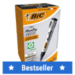 Bic Marking 2000 Permanent Markers Bullet Tip Black Pack of 12