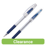 Pentel Superb Grip recycled 1mm ballpoint pen blue 12bx