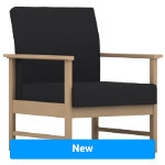 Pledge Reception Chair Easy Black