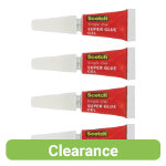 Scotch Single Use super glue gel 07oz Pack of 4