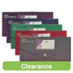 Snopake Fusion travel wallet file pack of 5 assorted colours