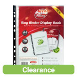 Pukka Filing Polypropylene Display Book A4 Clear