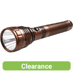 Metal torch with charger bronze finish