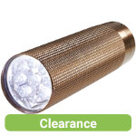 Compact metal LED torch