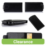 Black Faux Leather Cover for iPhone 5C
