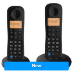 BT Dect Phone Everyday Twin Tam Black