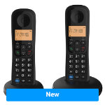 BT Dect Phone Everyday Twin Black