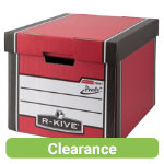 Fellowes Bankers Box R Kive Prestotm Tall Storage Box Red White Pack of 10