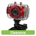 Vivitar DVR785HD 51MP Pro Waterproof Action Camcorder Red