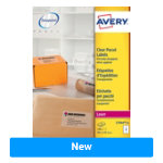Avery Laser Labels L7564 25 Clear 25 Labels per pack Pack