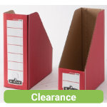 Bankers Box Fellowes R Kive Presto Premium Magazine Files Red Pack 10