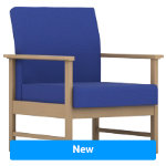 Pledge Reception Chair Easy ES1 2 Blue