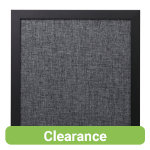 Bi Office Noticeboard light grey fabric black shadow frame 450x450mm