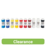 Brian Clegg Acrylic Paint Pack of 10 x 500ml Yellow Cyan Burnt Sienna Lemon Red Blue Crimson Black 2 x White