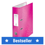 Leitz WOW 180 Laminated Lever Arch File Pink A4