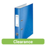 Leitz Wow 180 Lever Arch File A4 52mm Blue