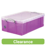 Really Useful Box Translucent Purple 50 Litre