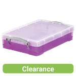 Really Useful Box Translucent Purple 4 Litre