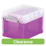 Really Useful Box polypropylene plastic storage box three litre 160 x 180 x 245mm H x W x D in Purple