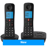 BT Dect Phone Essential Twin Black