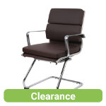 RS Pro Milan Leather Faced Cantilever Chair brown