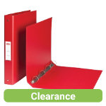 Office Depot 4 Ring A4 Plastic Ring Binder Red Pack 10
