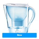 BRITA Marella Jug with 3 Cartridges 1024045 Transparent White