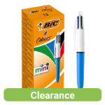 Bic 4 Colours Mini Pen Assorted Pack of 12
