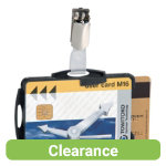 Pack 25 Black Dual Security ID Holders with Clip