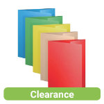 Office Depot One Flap 250gsm Assorted Folders Pack of 50