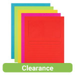 Office Depot Assorted Window Cut Back Folders Pack of 50
